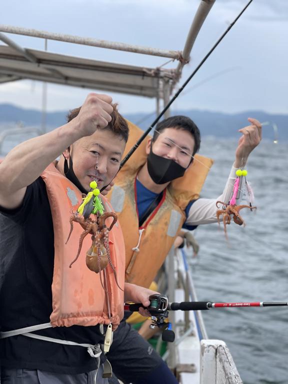 2021-6-12-マダコ釣りで竿頭とダブルヒット