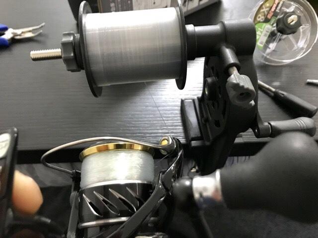 高速リサイクラー2.0を使いリールに下糸調整