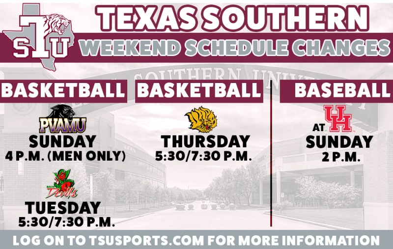 TSU Basketball Announces Schedule Changes