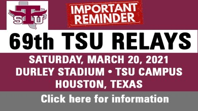 69th TSU Relays Schedule To Take Place March 20