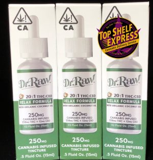Dr. Raw – REALX 20:1 THC/CBD : Tincture 250mg 238mgTHC 12mgCBD 15ml