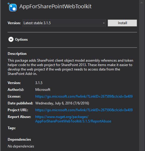AppForSharePointWebToolkit