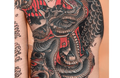 Japanese Tattoos generated by AI