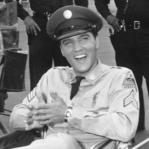 """Elvis Presley wearing his Hamilton Electrics """"Pacer Ventura"""""""