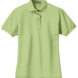 light green polo shirt