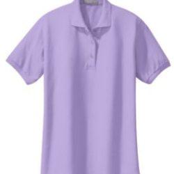 lavendar polo shirt