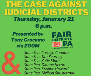 Forum: The Case Against Judicial Districts @ Zoom