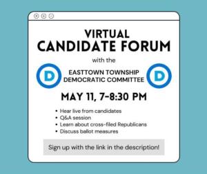 Virtual Candidate Forum @ Virtual