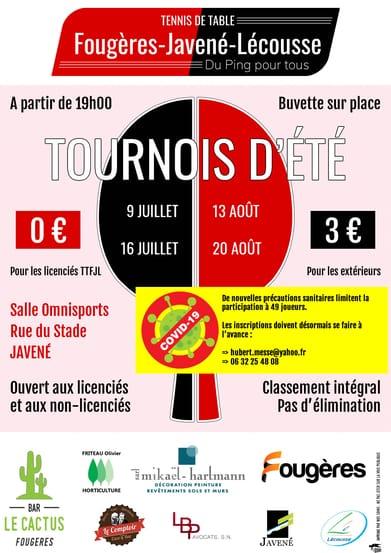 Read more about the article Tournois d'été 2021 – Modifications