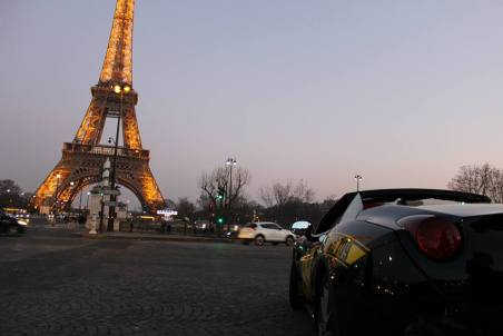 ferrari and tower