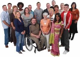 diverse crowd