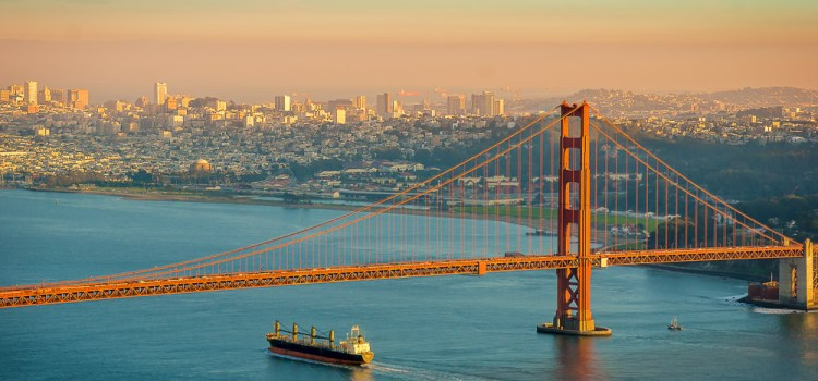 California San Francisco Sunset Ride Golden Gate
