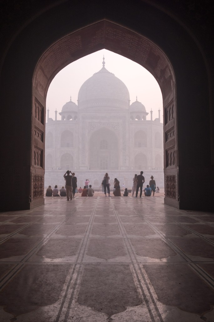 Taj Mahal Framed in Arch at Sunrise - Agra, India - Copyright 2016 Ralph Velasco