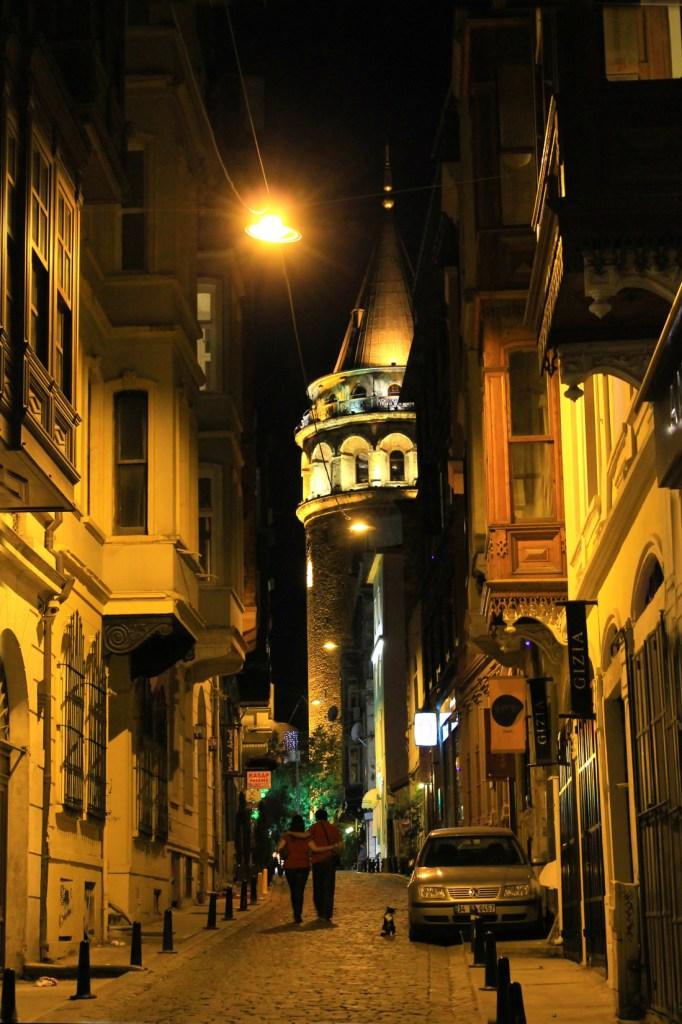 Romantic walk to Galata, Istanbul, Turkey
