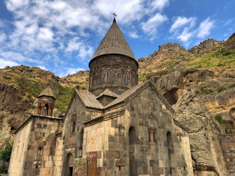 Geghard Monastery with Clouds - Geghard, Armenia - Copyright 2018 Ralph Velasco.jpeg