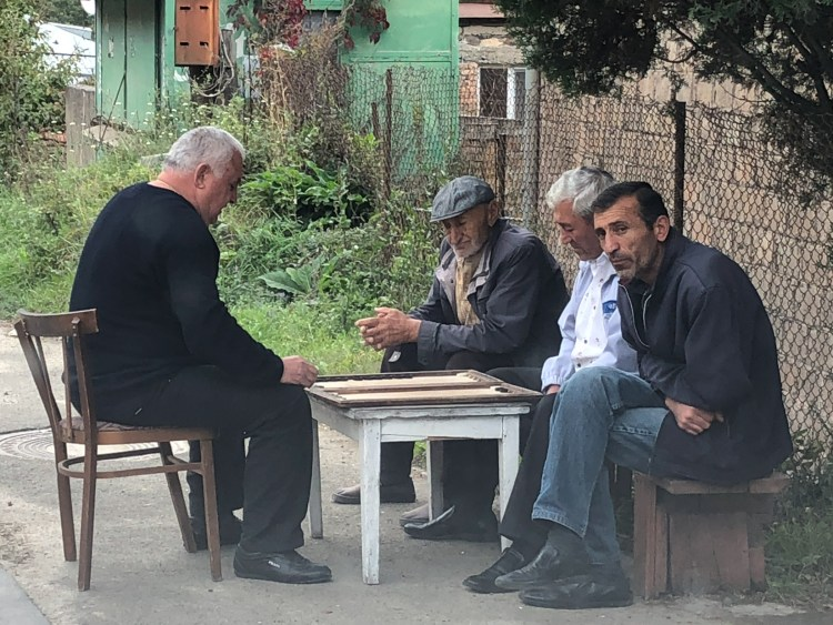 Men Playing Backgammon - Dilijan, Armenia - Copyright 2018 Ralph Velasco