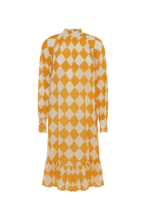 HunKøn - Harlekin Dress - Yellow - Front