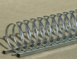 Stainless steel spiral bicycle rack