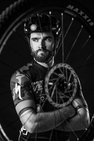 Adam Finck, cyclist, sat in for a reActivate20 photoshoot. Photo curtesy of Jerod Foster.