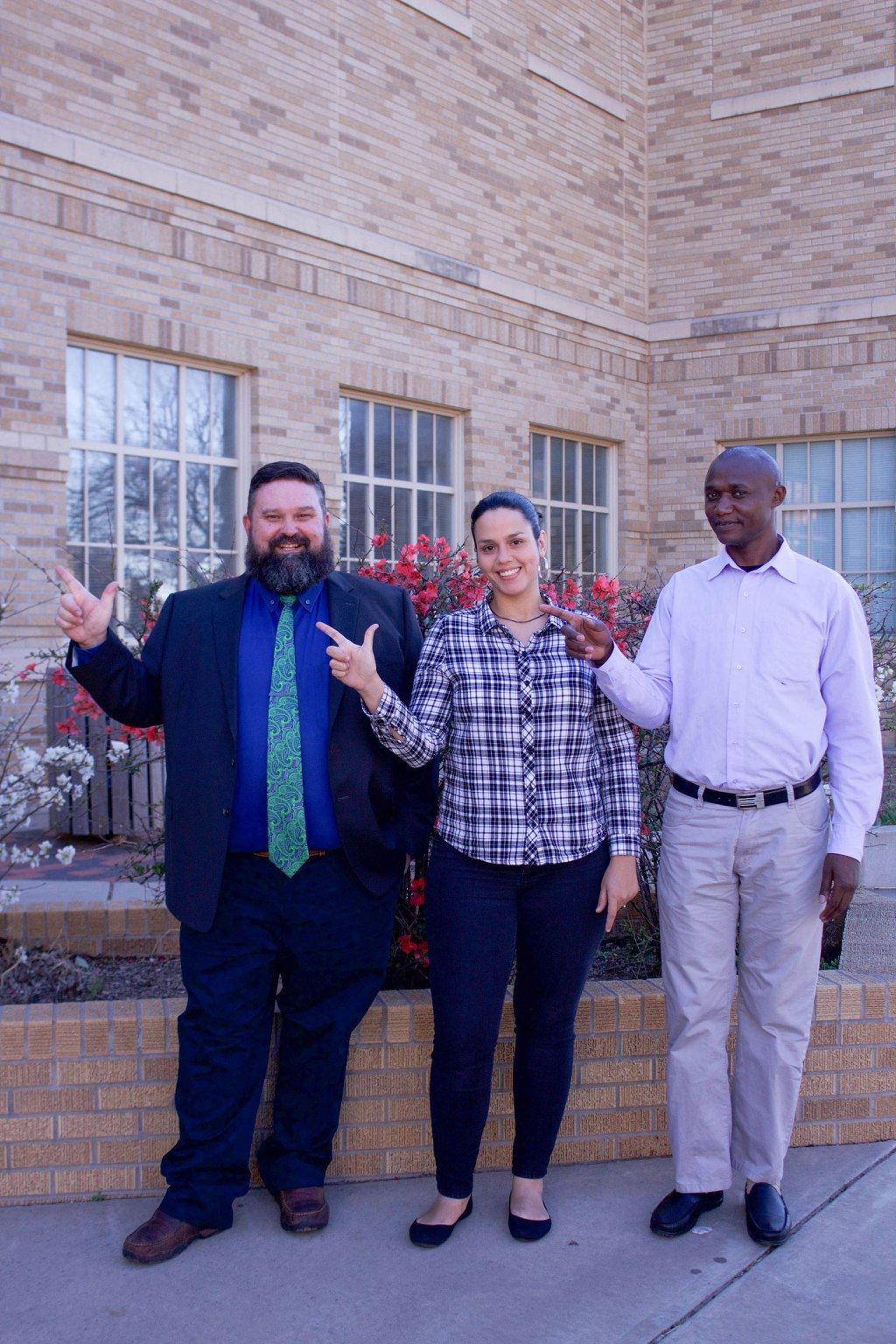 Keith Frost, Gipsy Bocanegra and Raphael Gikunda all received presidential graduate fellowships to study in the Department of Agricultural Education and Communications.