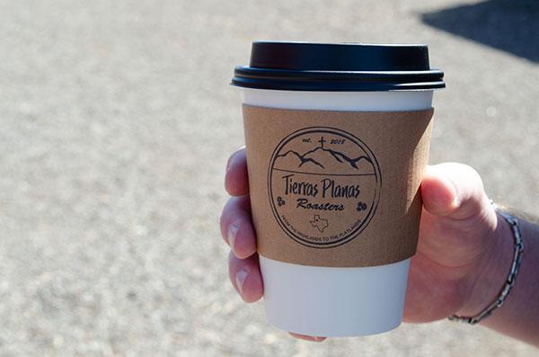 Tierras Planas Roasters togo coffee cup