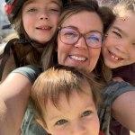 Fenton and her three kids