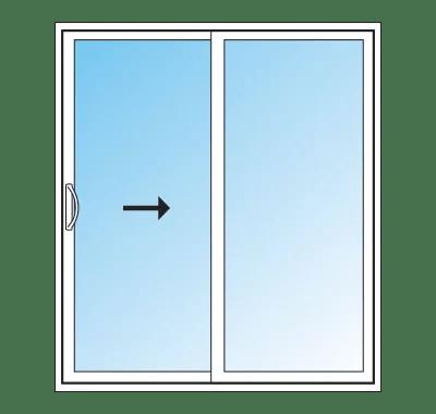 slim line style sliding patio doors