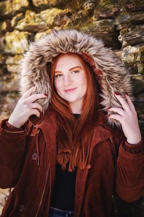 senior pictures in winter
