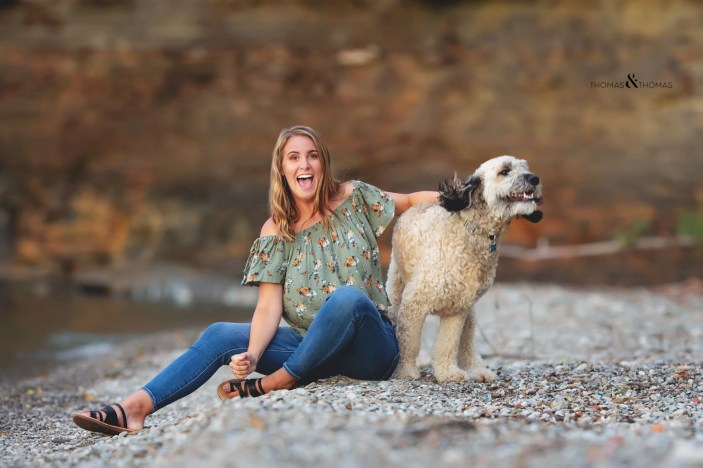 How to bring your dog to your senior photography session