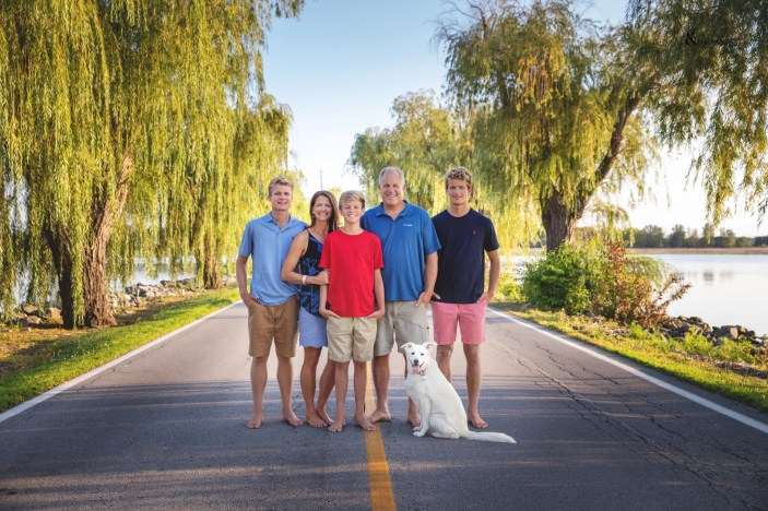 family picture with dog on cedar point road