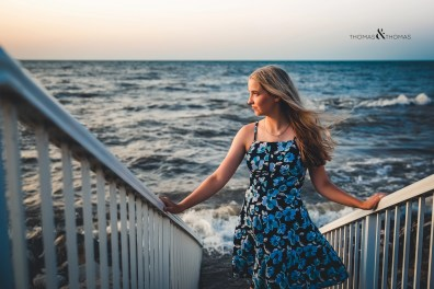 featured senior session on beach
