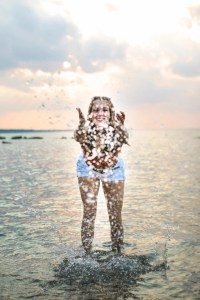 senior photography in water