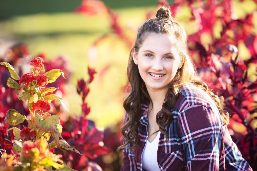Rocky River Senior Photography in fall colors