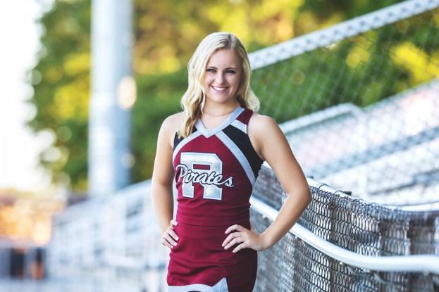 Rocky River featured senior cheerleader