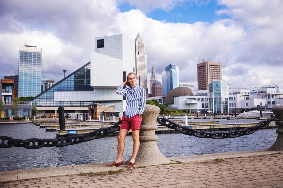 Senior Photography Cleveland Skyline