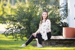 Rocky River Senior Photography at Orchard