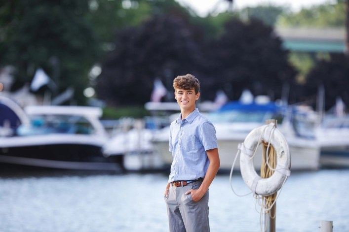 Saint Ignatius Senior photography lake erie