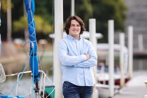 Featured Rocky River, Ohio Senior Photography on docks