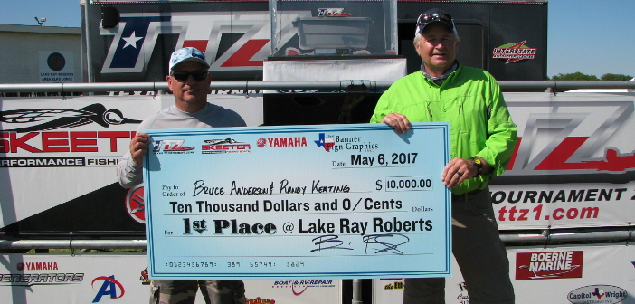 BRUCE ANDERSON AND RANDY KEATING WEIGH IN OVER 30 POUNDS ON RAY ROBERTS AND TAKE HOME $10,000