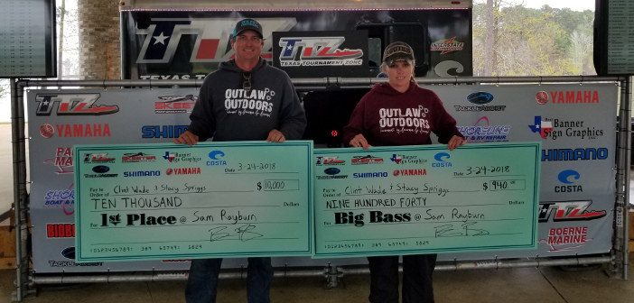 CLINT WADE & STACY SPRIGGS WEIGH IN A MASSIVE 37.80LB BAG AND TAKE HOME $10,940 – click pic for results