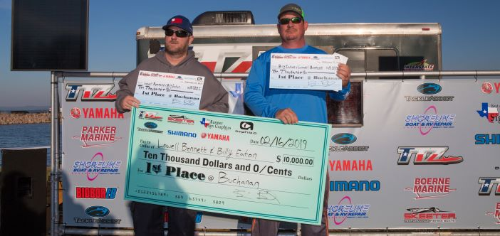 LOWELL BENNETT & BILLY EATON BRING IN 25.70LBS WITH BIG BASS ON BUCHANAN AND TAKE HOME OVER $11K