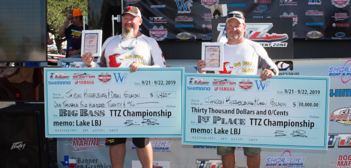 KISSELBURG & GOLMAN WIN THE 2019 CHAMPIONSHIP ON LBJ TAKING HOME OVER $30,000 WITH A 2 DAY TOTAL OF NEARLY 42 POUNDS
