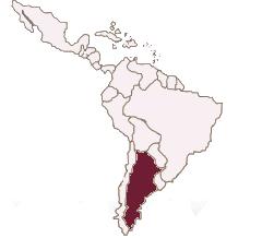 Karte Lateinamerika Argentinien spanisch lernen berlin