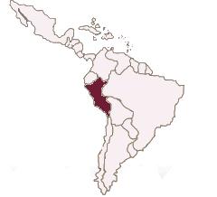 Karte Lateinamerika Peru spanisch lernen berlin