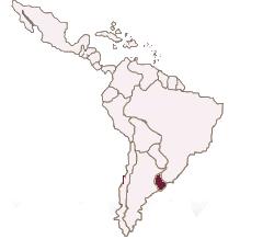 Karte Lateinamerika Uruguay spanisch lernen berlin