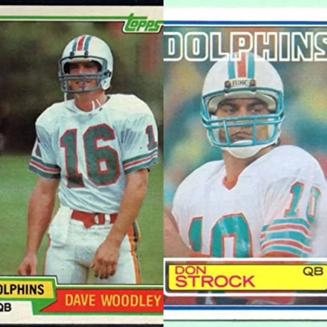 David Woodley and Don Strock. The QB Shuffle has historic Precedent in Miami.