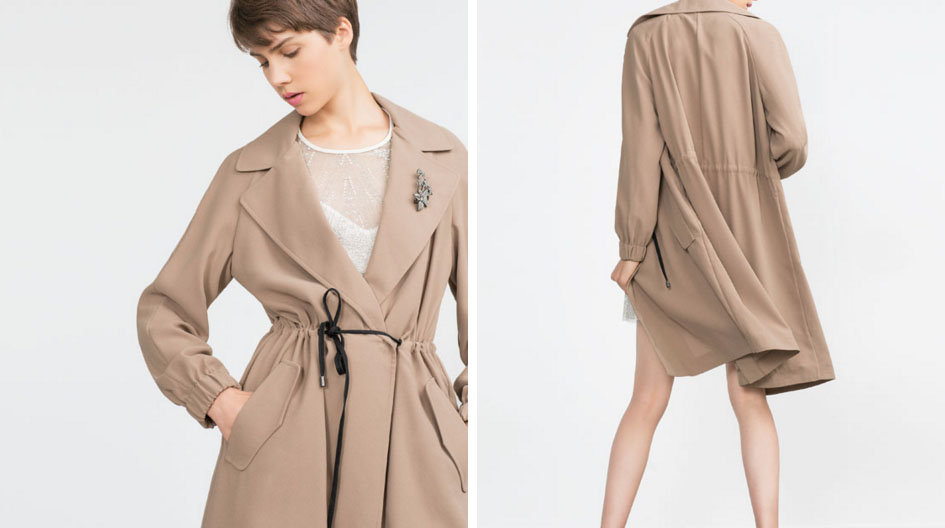 Trench fluido camel 2015