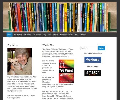 Home page for Peg Kehret