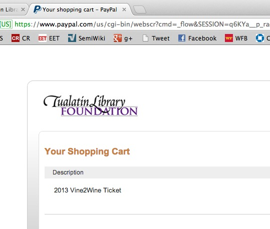 PayPal checkout branded with foundation logo