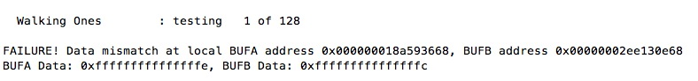 Failing RAM Test